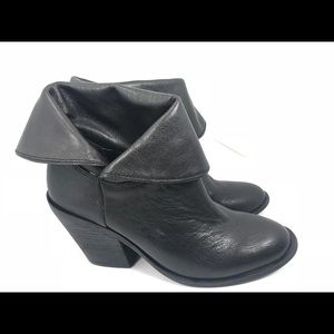 Lucky Brand ethann pull on Fold Ankle Boots 7M